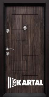 Блиндирана врата Kartal Т-100 цвят Африка