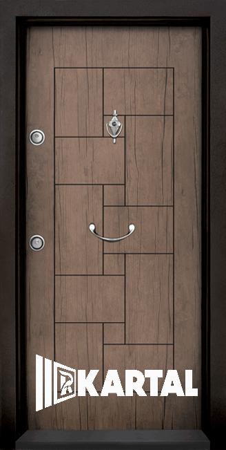 Блиндирана врата Kartal Т-100 Антик Дръжка Полумесец