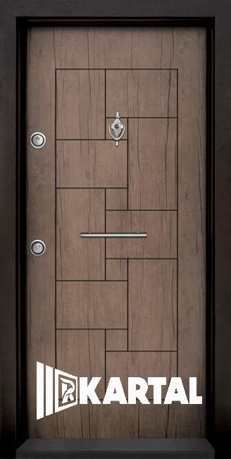 Блиндирана врата Kartal Т-100 Антик права дръжка