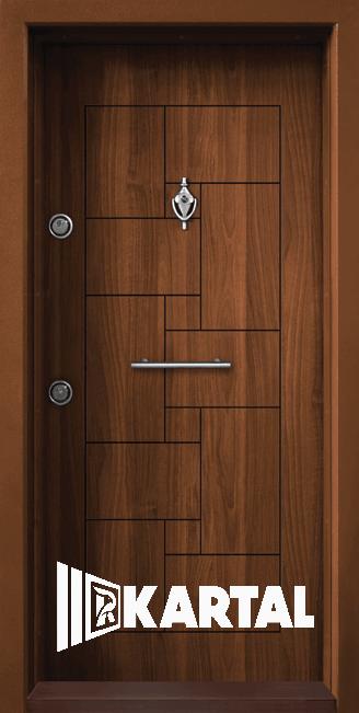 Блиндирана врата Kartal Т-100 Златен Дъб Дръжка Пура