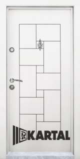 Блиндирана врата Kartal Т-100 цвят Бял