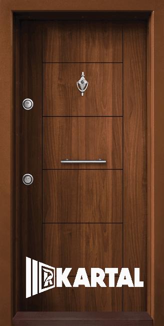 Блиндирана врата Kartal Т-102 Златен Дъб Дръжка Пура