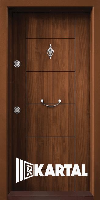 Блиндирана врата Kartal Т-102 Златен Дъб Дръжка Полумесец