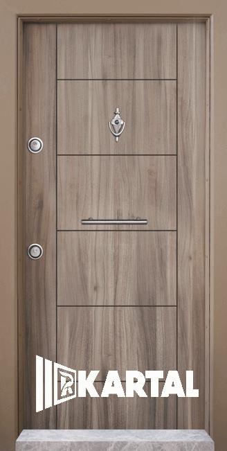Блиндирана врата Kartal Т-102 цвят Спарта Дръжка Пура