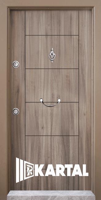 Блиндирана врата Kartal Т-102 цвят Спарта Дръжка Полумесец