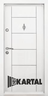 Блиндирана врата Kartal Т-102 цвят Бял