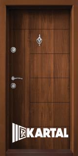 Блиндирана врата Картал Т-587 Зл. Дъб